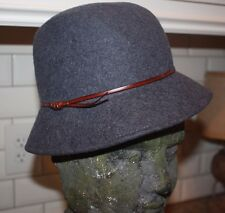 The Hat Company by Filippo Catarzi 100% Wool Hat with Leather Band Made in Italy