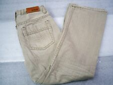 Boy's Urban Pipeline Relaxed Bootcut Jeans with Adjustable Waist, Khaki, Size 10