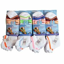 6 Pairs Fresh Feel Cushioned Trainer Socks mens womens comfy L10704