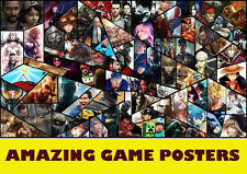 Choice of Online Game Posters NEW A3, A2, A1 Art Print Posters High Quality