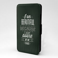 Saying Quote I Am Beautiful Flip Case Cover For Apple iPhone - P766