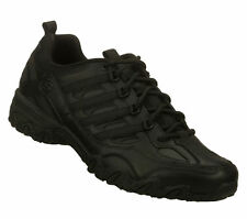 76492 Black Skechers Shoes Women Work Nurse Uniform Slip Resistant Leather Sport