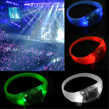 Button Activated Flashing Bracelet LED Bright Wristband  Hot 7 Colors   tbca