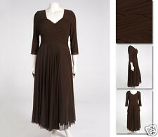 NEW Zaftique LS ENCHANTED MESH Dress COFFEE Brown 0Z 1Z / 12 14 16 / M L XL 1X