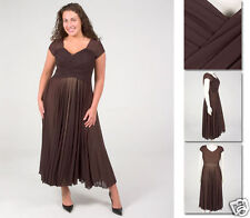 NEW Zaftique ENCHANTED MESH Dress CHOCOLATE Brown 00 0Z 1Z 12 14 16 M L XL 1X 2X