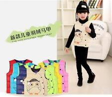 Baby autumn and winter down vest children down jacket down vest candy color