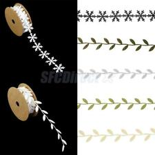 Roll of Snowflake/Leaf Vine Ribbon Trim Sewing Wedding Party Christmas Decor