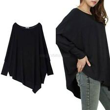 Autumn Women Lady Oversized Blouse Tops Batwing Loose Cotton T Shirts Tee