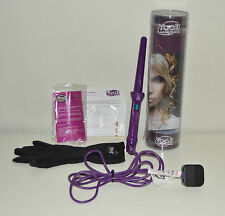 YOGI Hair Curling Wands Tongs with Heat Proof Glove Purple with Manual