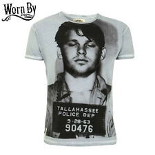"WORN BY men's T-shirt Tee New Mens ""Mugshot"" NEW JIM MORRISON T-shirt DOORS"