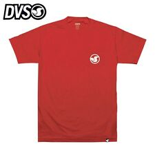 "DVS men's T-shirt Tee New Mens ""Icon Pocket"" NEW RED T-shirt SKATE Pocket LOGO"