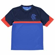 Glasgow Rangers FC Poly T-Shirt Juniors Royal/Navy/Red Football Soccer Top Tee