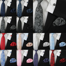 New Hot Floral Paisley Silk Mens Tie Set Jacquard Woven Classic Necktie Set Gift
