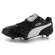 Puma King Pro Soft Ground Mens Football Boots Black/White Soccer Footwear