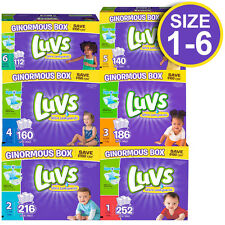 LUVS Ultra Leakguards Absorbent Diapers With Night Lock SIZE 1 2 3 4 5 6