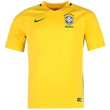 Nike Brazil Home Jersey 2016 Mens Yellow/Green Football Soccer Top Shirt
