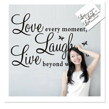 DIY Wall Sticker Live Love Laugh Letter Removable Vinyl Stickers for Living Room