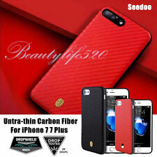 Untra-thin Carbon Fiber Shockproof  Weaving Case Cover For Apple iPhone 7 7 Plus