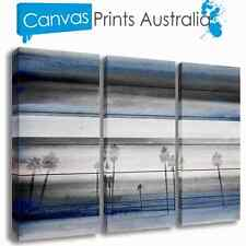 BEACH STRETCHED CANVAS ART ABSTRACT OCEAN PALM SET OF 3 PRINTS MORE IN OUR STORE