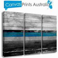 BEACH STRETCHED CANVAS ABSTRACT OCEAN TROPICAL SET OF 3 PRINTS MORE IN OUR STORE
