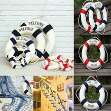 Welcome Aboard Nautical Wall Ship Boat Ring Life Buoy Preserver Decor 14-50cm