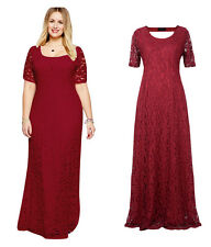 Lace Long Maxi New Formal Ball bridal gown Wedding Evening Party Plus Size dress