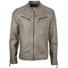 Loud by Gipsy Men's Leather Jacket Leather look grey M0008435 Cage NLHD grey