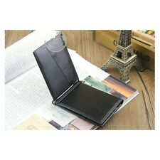 Men's Faux Leather Bifold ID Credit Card Holder Purse Billfold Wallet Money Clip