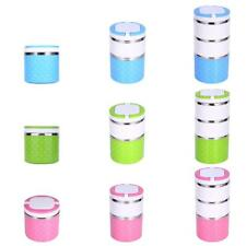 Stainless Steel Kids Students Insulated 1 Layer Lunch Box Food Storage 3 Colors