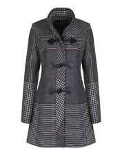 Country Attire Women's Ayr Check Coat - Black/White/Red