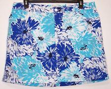 NWT St Johns Bay Comfort Waist Stretch Skort Plus Size 18W  20W 22W Blue Floral