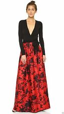 new Diane von Furstenberg KAILEY Pleated Wrap MAXI Gown in FLORAL DAZE LARGE RED