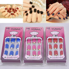 Fashion Matte False Full Finger Nails Manicure Nails Fake Nails 24PCS   TBUS