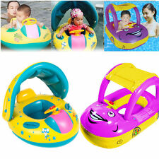 Inflatable Baby Kids Float Seat Boat Beach Car SunShade Water Swimming Pool Car