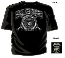 US Marine Corps T-Shirt MADE IN THE USA Kicking Ass Since 1775 USMC America M-3X