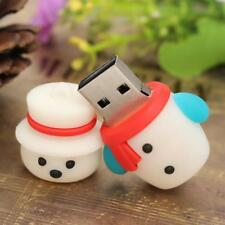 Cartoon Snowman U Disk USB 2.0 Memory Stick Flash Pen Thumb Drive