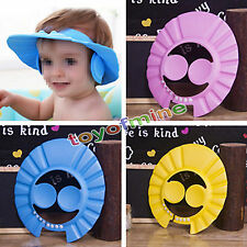 Adjustable Baby Kids Shampoo Bath Bathing Shower Cap Hat Wash Hair Shield HUS#