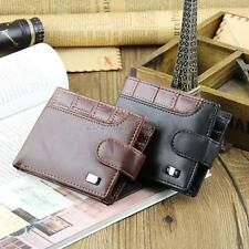 Men's Bifold Wallet PU Leather Credit/ID Card Coin Holder Slim Buckle Purse Chic