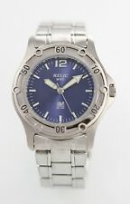 Relic Watch Mens Blue Stainless Steel Silver 50m Quartz Battery Easy Read Watch