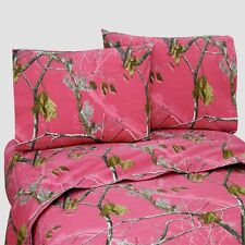 REALTREE AP FUCHSIA HOT PINK CAMO SHEETS SET- TWIN-FULL-QUEEN