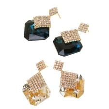 Vintage Jewelry Crystal Stud Earring for Women Statement Earrings Christmas Gift