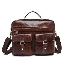 HandMade Men's Retro Real Leather Messenger Laptop Briefcase Satchel Bag New
