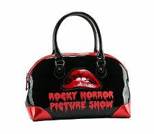 Rock Rebel Womens Rocky Horror Picture Show Lips Iconic Classic Movie Black
