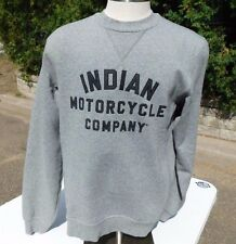 Genuine Indian Motorcycle IMC Gray Sweat (SWEATSHIRT) 80% Cotton 20% Polyester