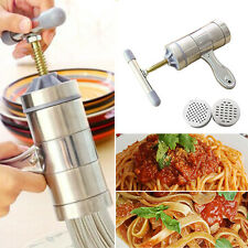 Stainless Steel Manual Noodle Hand Press Machine Pasta Maker With Noodle Mould