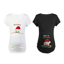 Pregnant Women Nursing Short Sleeve Print T-shirt  Maternity Loose Tops Blouse