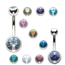 Long Belly Rings Stainless Steel Belly Bars Navel Piercing Button Jewelry BB