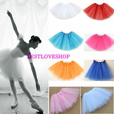 Women/Adult Teen 3 Layer Tulle TUTU Skirt Organza Pettiskirt Ballet Party Skirt