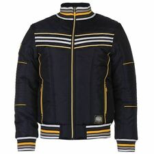 Everlast Mens Gents Jacket Colour Contrasting Stripe Zipped Overcoat Clothing