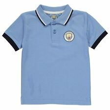 Source Lab Childrens Manchester City FC Polo Shirt Boys Top Clothing
